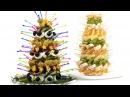 Закусочные елки для новогоднего стола. Пошаговый рецепт.