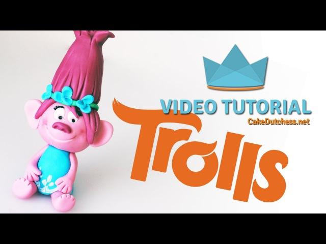 How to make Poppy from Dreamworks Trolls - Cake Decorating Tutorial