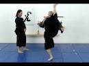 Basic Mikazuki geri, crescent kick - Ninjutsu technique for Akban wik
