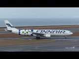 Finnair Airbus A330-302 OH-LTO Landing &amp Take off at Nagoya
