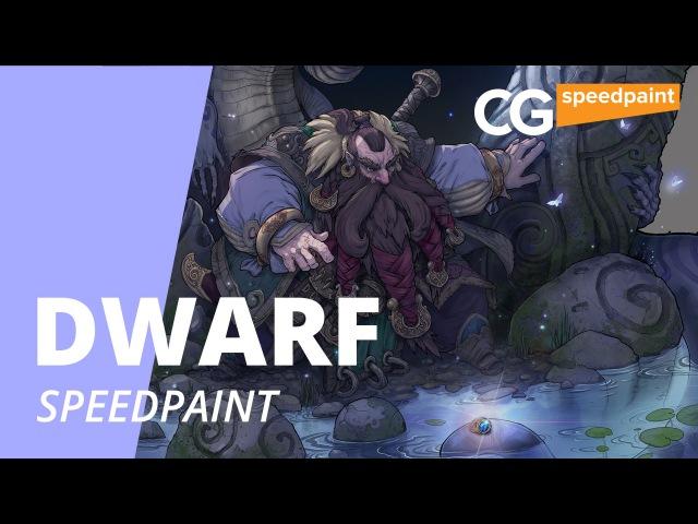 Speed Painting Dwarf Trouvaille. Рисуем иллюстрацию. CG Speedpaint