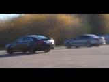 NEW Cadillac CTS-V vs BMW M5 F10 x 2 RACE (both stock)