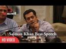Salman Khan Best Speech | BMC Anti-Open Defecation Campaign | Must Watch