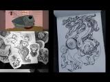 Рисуем новогоднего дракона, 2 часть :)