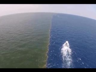 Разность в плотности в месте соединения вод двух океанов, Тихого и Северного Ледовитого соответственно, препятствует плавному см