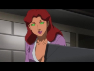 Justice League vs. Teen Titans (Nightwing tries to have fun with Starfire)