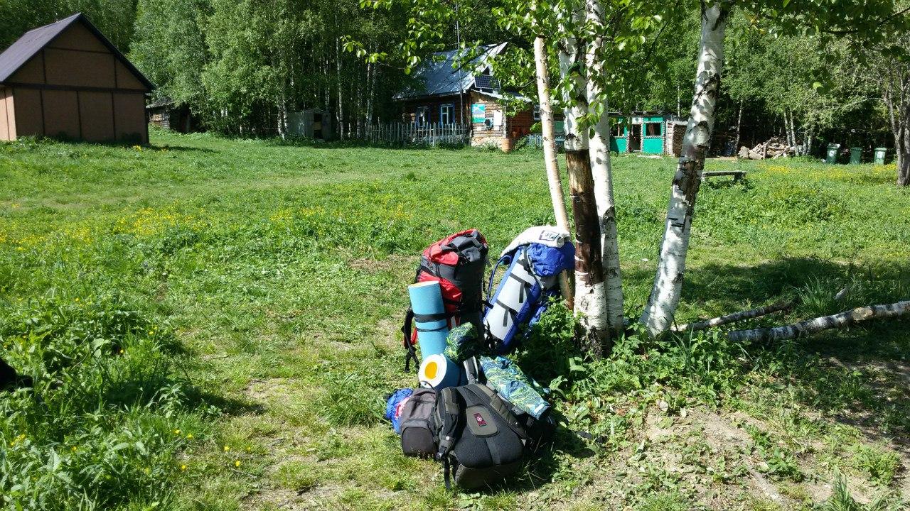 На Таганай с палаткаой. Ассортимент на спину :)