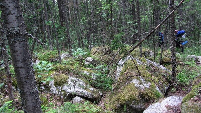 Таганай. Переход с Нижней тропы на Верхнюю, к Гремучему ключу. Каменная река