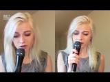 Красивая девочка поет офигенно