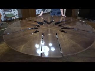 Круглый раздвижной стол - трансформер