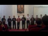 Песня в исполнении мужского хора МинДС