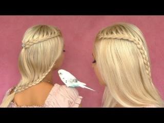 Оригинальная прическа с французскими косами (видео урок)