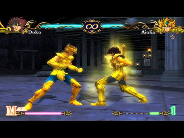 PCSX2 Custom Saint Seiya Hades Dohko VS Aiolia Cell Shading 80 FPS