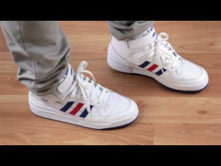 Adidas Forum Mid (white / college royal / college red) G50932 - PYS.com