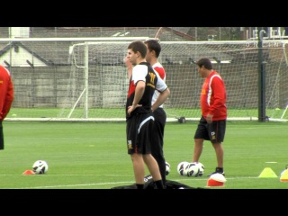 Brendan Rodgers leads the first LFC training session 2012/13