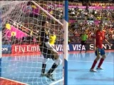 Amazing Goal Falcão ! Brazil 3x2 Spain - World Cup Futsal Thailand 2012