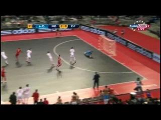 Мини-футбол. ЧЕ-2012. Финал. Россия – Испания. 1:3 (ДВ)
