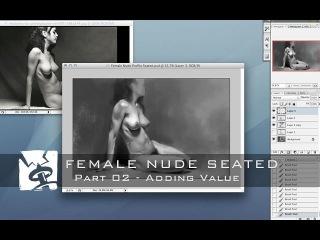 Female Nude Seated - Part 02 Adding Value