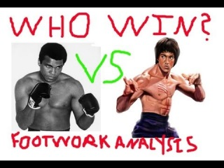 Bruce Lee Vs Muhammad Ali Shuffle Footwork, Bruce Lee Vs Muhammad Ali Who Wins Lee vs Ali Footwork