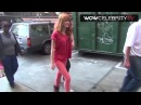 Bella Thorne arrives to LA Mission to help needy families for Thanksgiving