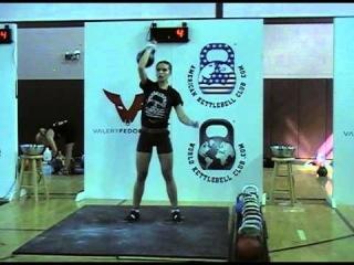 WKC Kettlebell Competition 2012 - Ksenia Dedukhina Jerks