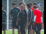 The Real Madrid squad trained before going to Amsterdam