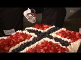 Как сборная Норвегии праздновала золото в смешанной эстафете - Нове Место 2013