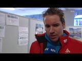 Довольный Эмиль дает интервью NRK после первой победы в сезоне
