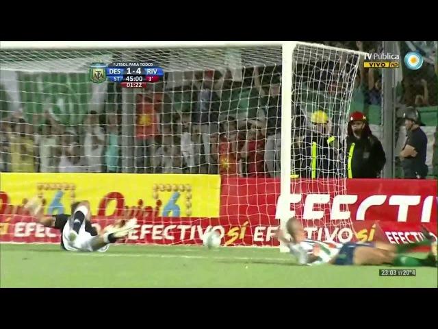 Gol de David Trezeguet Desamparados 1 River Plate 4 HD Relato Costafebre