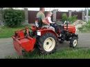 VLOG   Катаемся на мини тракторе mitsubishi shakti mt 180, косим газонокосилкой, ловим цыплят