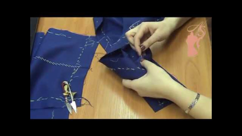 Декорирование платья ручной стежкой