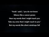 Disturbed - The Sound Of Silence Lyrics Video