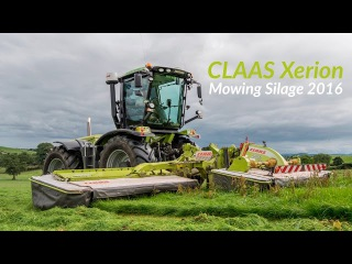CLAAS Xerion Mowing Silage 2016 - 4K