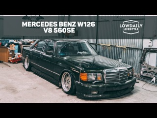 Mercedes Benz W126 V8 560SE / ПЕРЕКРЫЛИ МКАД / Burnout / Air Bagged /EP 18 Lowdaily Lifestyle.