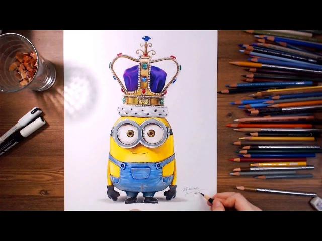 Minions : King Bob - Speed drawing | drawholic