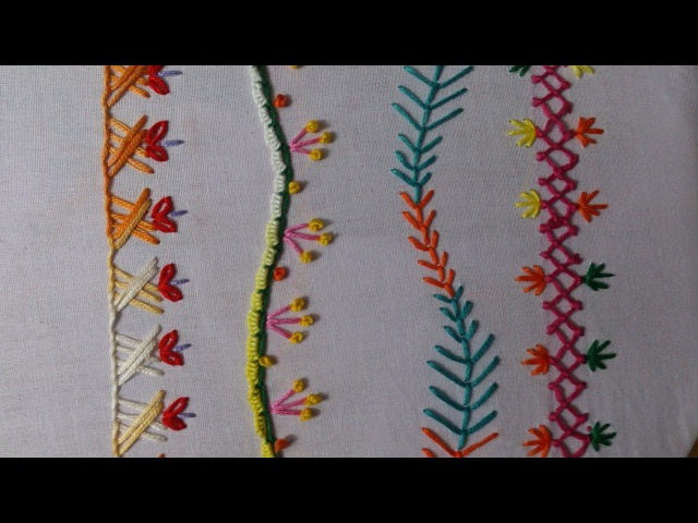Hand embroidery stitches tutorial. Easy embroidery stitch designs.Part-4