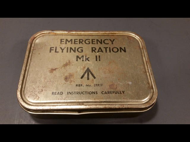 1943 WW2 British RAF Emergency Flying Ration MK 2 Military Survival MRE Food Review Time Capsule