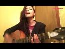 """Красивая девушка шикарно поёт испанский кавер """"Adele - Hello"""",cover,сыграла на гитаре,красивый голос,талант,поёмвсети"""