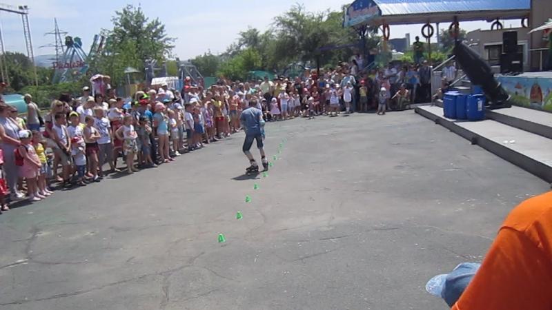 В парке Фантазия на празднике Нептуна Макс Свитич 10 лет