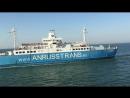Переправа  автобуса на пароме по Чёрному  морю в КРЫМ  (июль 2016 г.)