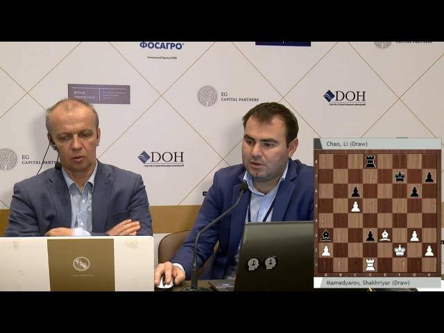 Шахрияр Мамедьяров о партии 1 тура. Мемориал Таля 2016