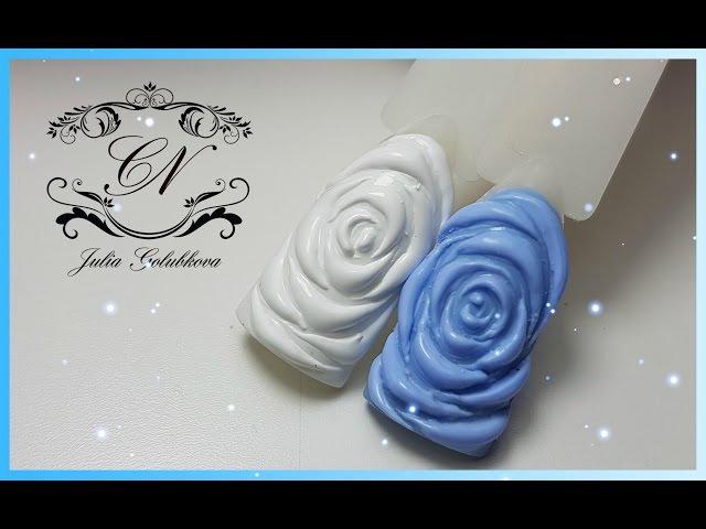 ♥Дизайн ногтей♥Объемные розы♥