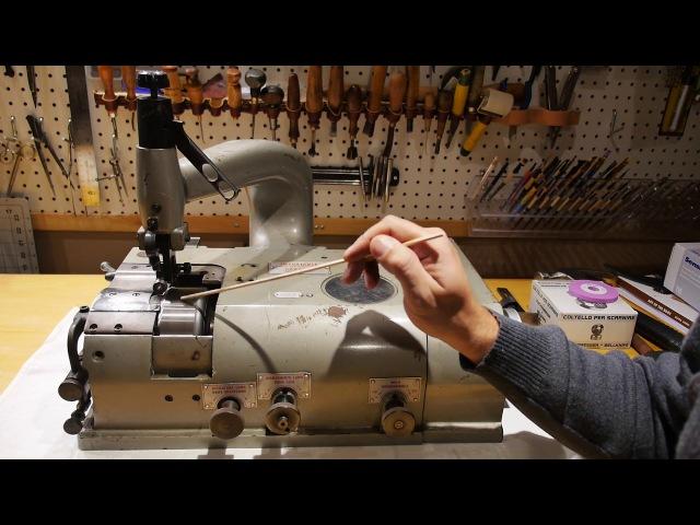 Fortuna Leather Skiver - tuning instructions. Регулировка шерфовальной машины Фортуна.