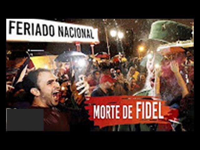 Cubanos choram a morte de Fidel