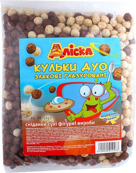 Кульки дуо злакові глазуровані, Аліска, 250 г
