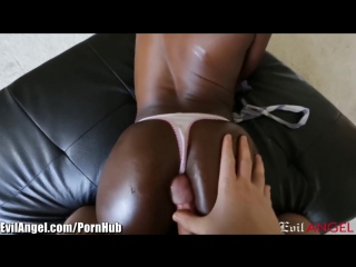 EvilAngel - Ana Foxxx POV Cock Sucking and Oily Ass [ HD Anal Porn ]