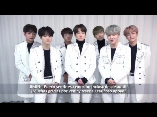 170112 BTS Message for 2017 BTS LIVE TRILOGY EPISODE III: The Wings in Santiago