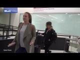 Марго и София Керр в аэропорту LAX  10.01.17