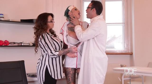 HouseOfTaboo – Calisi Ink and Harmony Reigns – Tattooed Nurses Gone Wild – Humiliation In The Doctor's Office