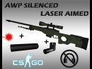 CS:GO AWP Silenced and laser aimed